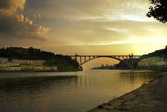 Oporto with a June sunset