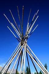 Tepee (Katpix) Tags: blue canada geotagged rockies sticks alberta wilderness tepee willmore katpix kmo tentpoles geo:lat=5351398 geo:lon=118116074