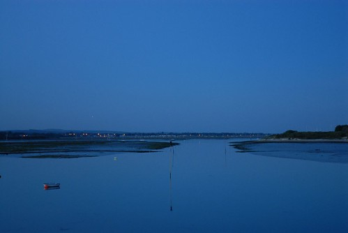 Chichester Harbour, low tide, just after sunset