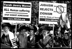 Judaism Rejects Zionism (danny.hammontree) Tags: blackandwhite bw lebanon usa art march israel washingtondc washington bush districtofcolumbia nikon war peace unitedstates iran god palestine flag muslim georgewbush fear faith georgebush politics iraq whitehouse rally religion protest d2x middleeast photojournalism saturday august 2006 christian demonstration arab antiwar violence jew jewish zionism judaism antibush nikkor fascism beirut lafayettepark israeli activist liban violent  palestinian occupation orthodoxjews waronterror marches rallies coexist  hammontree digitalgrace nikond2x  peacemovement dannyhammontree wwwdigitalgracecom warsucks  sfchronicle96hours freelebanon       20060812