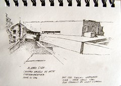 Alvaro Siza's Galician Center of Contemporary Art (Heidi Theunissen) Tags: travel santiago summer art de spain europe arte contemporary modernart centro 2006 sketchbook galicia compostela artmuseum alvaro siza contemporanea galego
