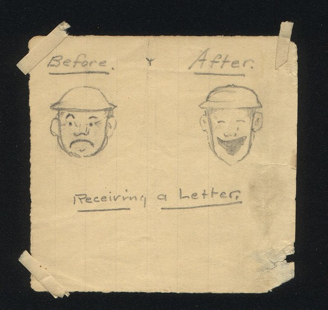 Soldier-Drawn Cartoon About Receiving Mail From Home