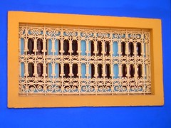 Marruecos - Marrakech - Jardin Majorelle - Ventana (jose_miguel) Tags: blue espaa orange detalle window miguel azul garden ventana reja spain jose jardin maroc marocco marrakech majorelle marrakesh marruecos naranja marraquech