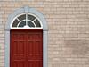 Red Door (fusaka) Tags: door red church window wall facade burgundy bricks porte minimalism mur bourgogne briques interestingness136 i500
