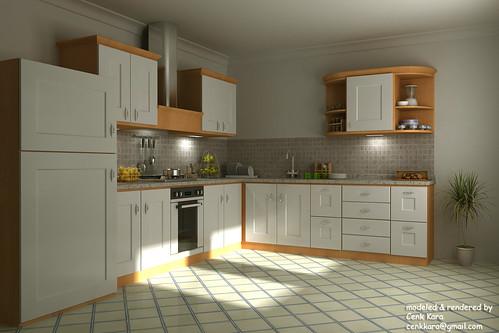 Wood Kitchen White,house, interior, interior design