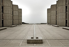 Salk Overcast (ken mccown) Tags: light texture architecture concrete arquitectura space modernism architektur salkinstitute louiskahn concreto