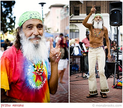 Dancing hippie (SFMONA) Tags: festival berkeley 60s downtown dancing jazz hippie tiedye peacesign