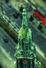St. Mary's Church (RottieLover) Tags: berlin church architecture germany miniature nikon europe churches alexanderplatz d200 stmarys 18200mm 18200mmf3556gvr nikonstunninggallery fromthetvtower