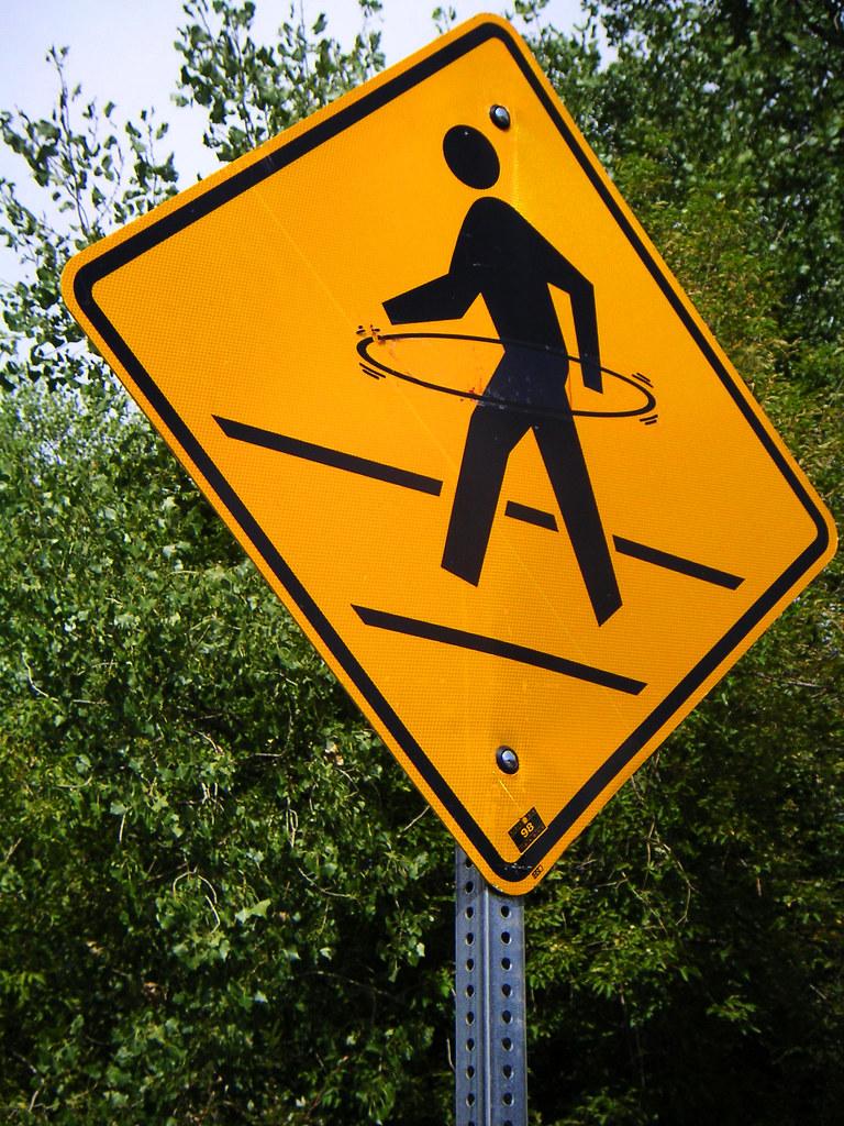 Caution: Hula Hooping Pedestrians