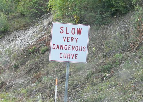 Slow very dangerous curve