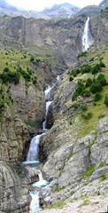 Cascada del Cinca (ebygomm) Tags: autostitch panorama geotagged waterfall spain 2006 pyrenees gr11 valledepineta parcnacionaldeordesaymonteperdido cascadadelcinca geo:lat=42684207 geo:lon=0066195
