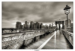 Rainy Day (Arnold Pouteau's) Tags: nyc newyorkcity bw manhattan brooklynbridge raining hdr bwdreams abigfave theroadtoheaven