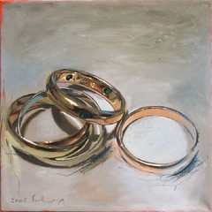 Wedding Rings (HagitSha) Tags: art colors painting paintings rings oilpainting
