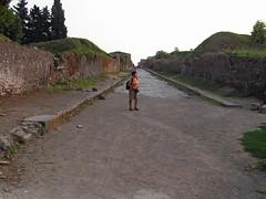 Is this the way out? (jovike) Tags: road street trees italy stone town ruins italia roman pompeii pompei espe scavi
