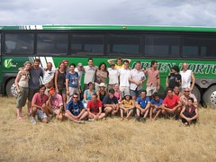 Greentortoise Group photo beside the bus