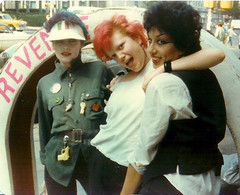 Shannon, Trixie Treat and Alice Bag at Revenge, NYC. 1978 (alice_bag) Tags: punk