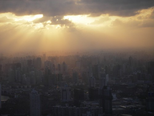 Sunset in Shanghai by you.