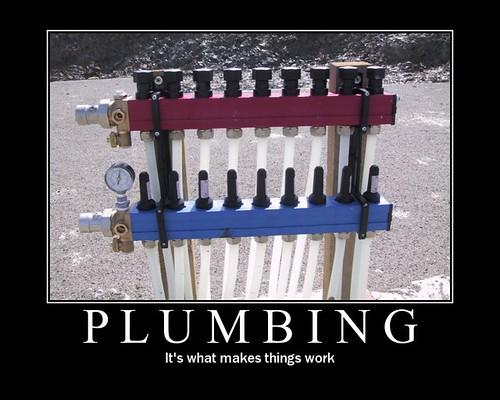 Plumbing motivational poster