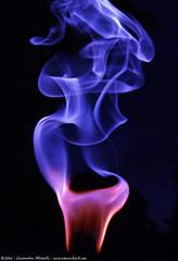 magenta flame, blue smoke - by atomicshark