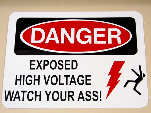 """warning sign""> by oskay on flickr"