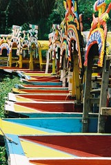 Punts on the cannals of Xochimilco (peteburg) Tags: mexico colorful colourful xochimilco punts