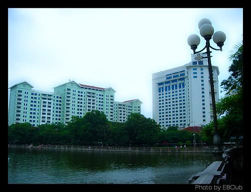 Daewoo Area and Thu Le Lake, Hanoi (Vietnam)
