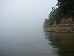 cave run lake (way opening) Tags: lake water fog digital forest kentucky overcast caverunlake danielboonenationalforest sonydsch2 rowancounty ourkentucky