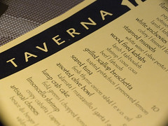 Taverna menu by Andy Ciordia