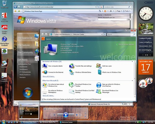 Screenshot de Windows Vista