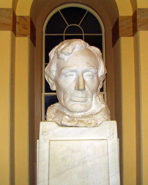 Lincoln bust inside the U.S. Capitol