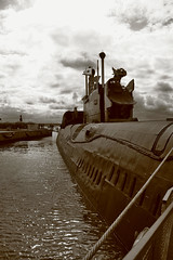 russian submarine (mad_airbrush) Tags: bw holiday eos submarine russian ostsee usedom 30d