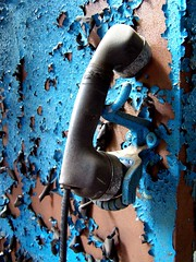 Phone Blues (flattop341) Tags: blue booth peeling paint industrial phone antique 3waychallenge 3wayicon flattop341 flattop341 contactmeforphotousage copyrightflattop341