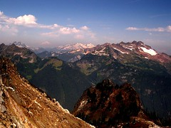 Mt. Baker shows through the haze (jcoutside) Tags: pilotpeak lake5808