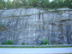lead climbing 001 (AntiPotato) Tags: rock georgia climb top south rope climbing parkway fulton lead leading blasted antipotato