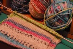 When you knit... (sifis) Tags: wool superwash nikon knitting knit athens yarn greece d200 needles pullover handknitting weater yarnshop sakalak
