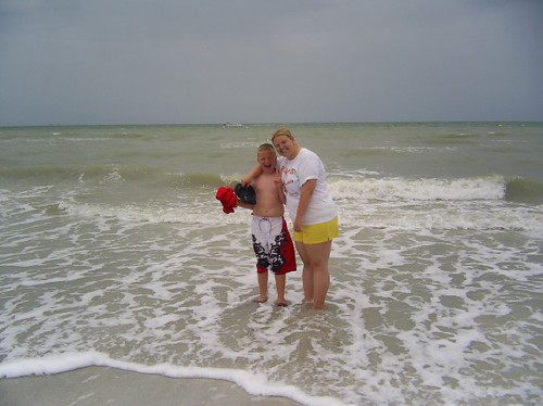 Jon and April, our first time in the ocean