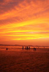 Last Sunset of Shaaban (Edge of Space) Tags: sunset beach reflective karachi emotive lastshaaban