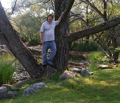 David_In_A_Tree_6781 (dcsaint) Tags: family people lake selfportrait david tree me water self myself nikon maine 2006 greenville nikoncoolpix995 e995 mooseheadlake dcsaint christmanfamily
