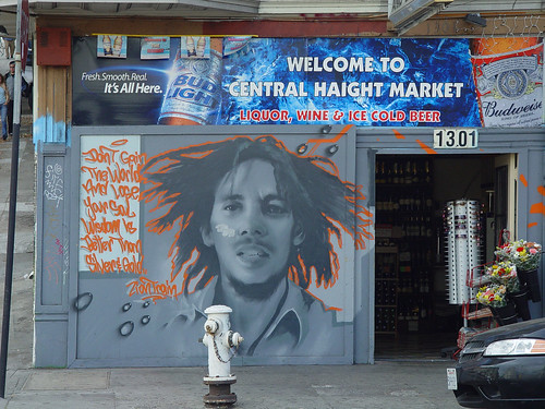 Bob Marley mural on Haight street