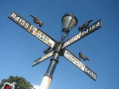 An instance of the fingerpost (historyanorak) Tags: sign writing way word design words hands iron hand finger fingers victorian direction castiron signpost streetfurniture language ornate westmidlands walsall midlands lichfield wolverhampton fingerpost rushall instantfave nortoncanes pelsall bloxwich wordythingsset