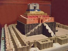 Model of the Tower of Babel at the Rosicrucian Egyptian Museum - by mharrsch