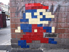 Mario (No-necked Monsters) Tags: street art mosaic character fitzroy melbourne