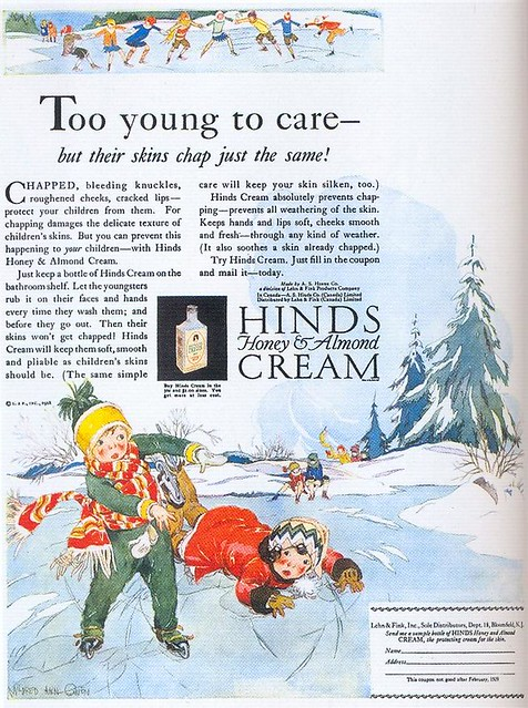 Mildred Ann Gwen, Hinds Cream ad, 1928