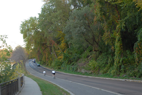 West River Road, Bike Path, and Sidewalk, Minneapolis