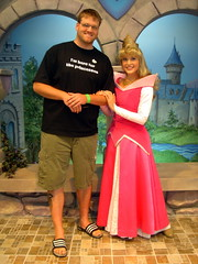 Me and Aurora (Andy Neitzert) Tags: county charity orange goofy kids hospital children mouse kid walk disneyland disney mickey haunted adventure childrens characters mansion fundraiser choc walkathon calfornia