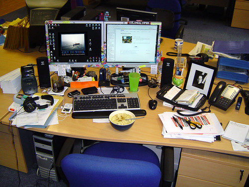 My Desk at Work by Lactose the Intollerent