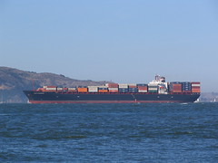 Container Ship Santa Barbara (Peter Kaminski) Tags: santabarbara ship sanfranciscobay containership watercraft fleetweek fleetweek2006 fleetweeksf