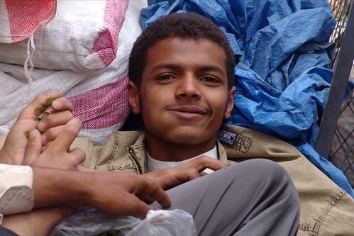 Yemen - Happy on qat in Sana'a