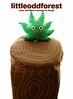 leaf in the woods (my little odd forest) Tags: wood brown tree green nature toy design leaf stuffed grain plush foliage softie stump trunk vein creature forestprints littleoddforest huggable
