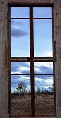 Magritte in Canberra (Knrad) Tags: sky window clouds magritte australia canberra mtstromlo corradogiulietti